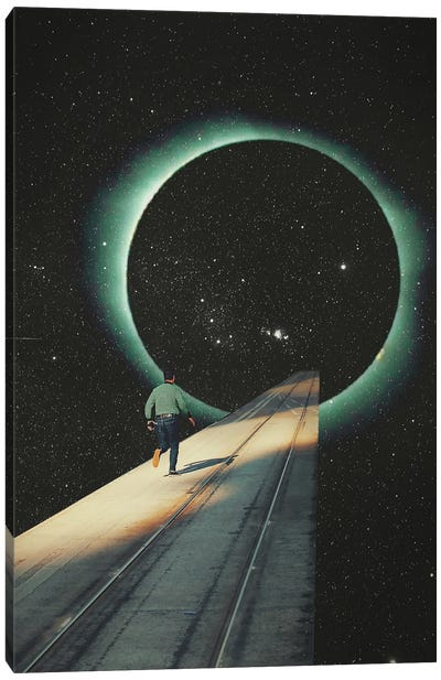 Escaping Into The Void Canvas Art Print