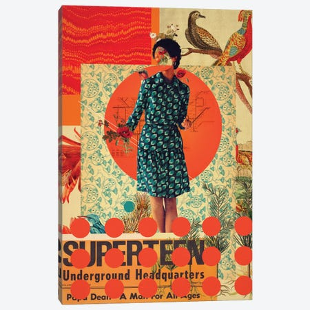 Superteen Canvas Print #FRM64} by Frank Moth Canvas Art Print