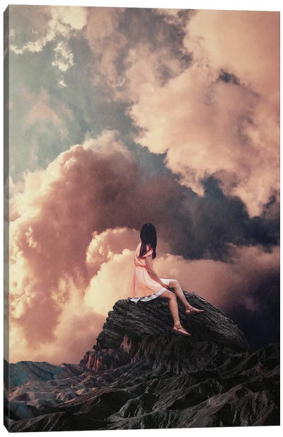 You Came From The Clouds By Frank Moth Canvas Art Print