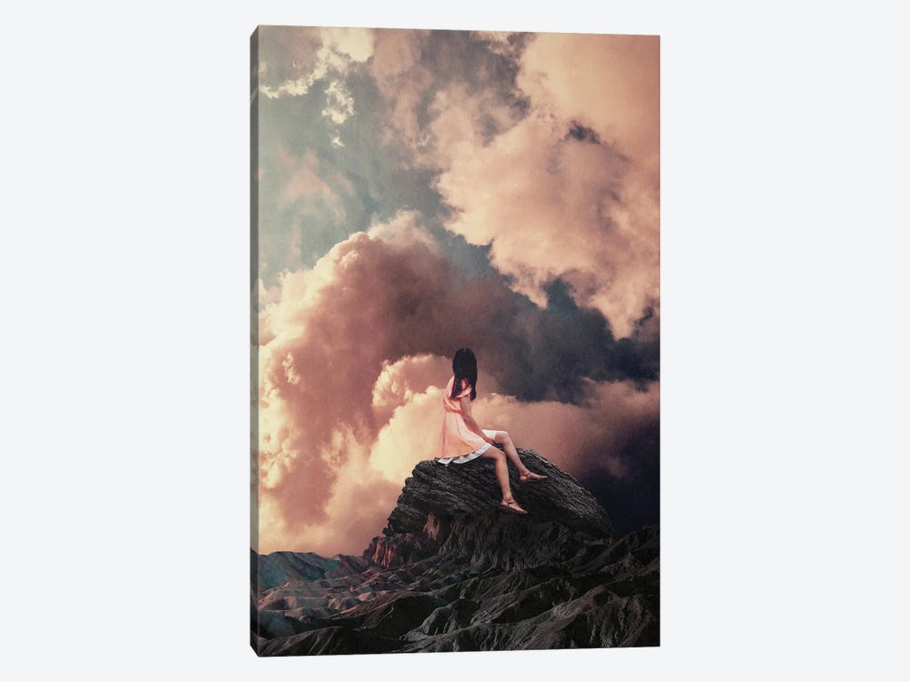 You Came From The Clouds By Frank Moth by Frank Moth 1-piece Canvas Wall Art