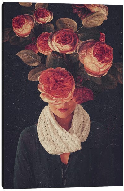 The Smile Of Roses Canvas Art Print