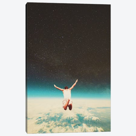 Falling with a hidden smile Canvas Print #FRM8} by Frank Moth Canvas Artwork