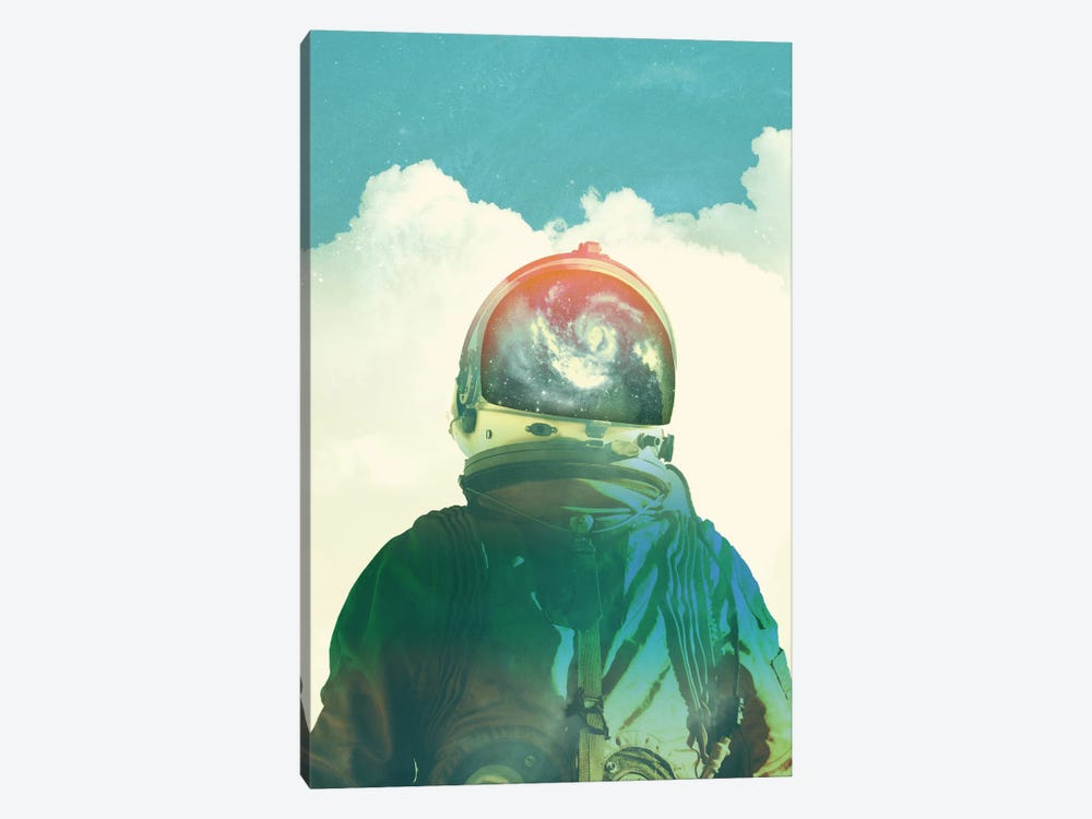 God Is An Astronaut by Fran Rodriguez 1-piece Canvas Art Print