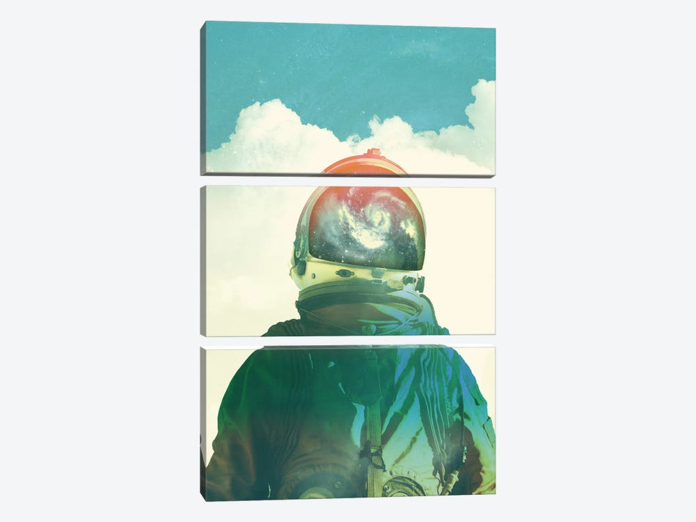 God Is An Astronaut by Fran Rodriguez 3-piece Canvas Print