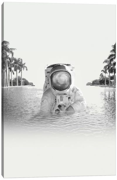 Astronaut by Fran Rodriguez Canvas Art Print