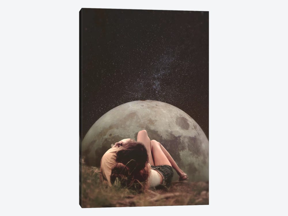 Cosmic Love 1-piece Canvas Wall Art