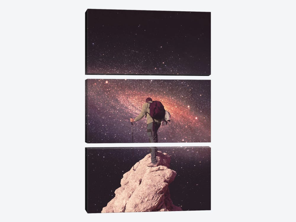 Space Tourist by Fran Rodriguez 3-piece Canvas Print