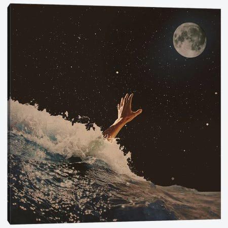 Wave Goodbye Canvas Print #FRO64} by Fran Rodriguez Art Print