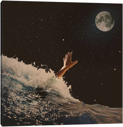 Wave Goodbye Canvas Art Print