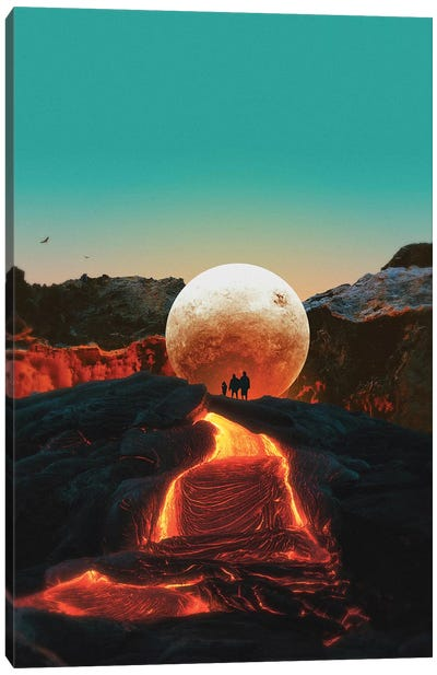 Lava Canvas Art Print
