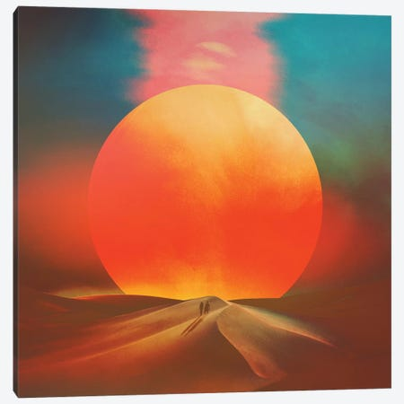 Setting Sun Canvas Print #FRO89} by Fran Rodriguez Canvas Art