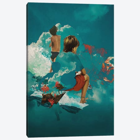 Kidcloud Canvas Print #FRO93} by Fran Rodriguez Art Print
