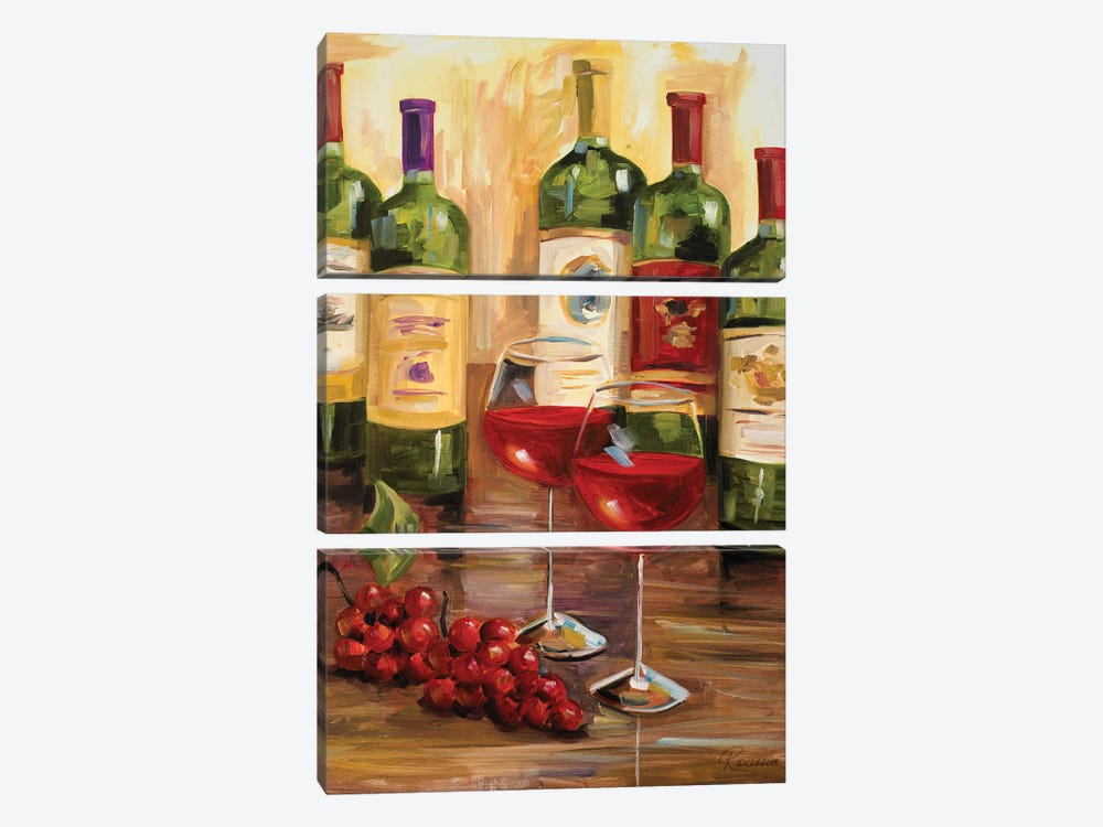 Chianti I by Heather A. French-Roussia 3-piece Canvas Art