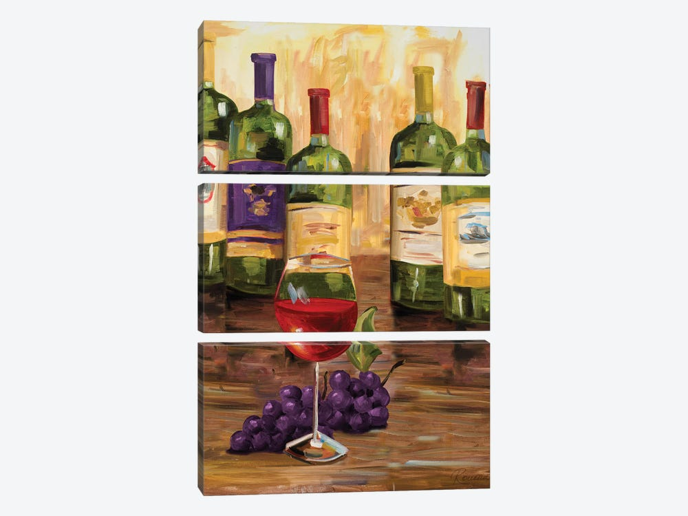 Chianti II by Heather A. French-Roussia 3-piece Canvas Print