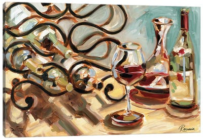 Decanter and Wine Canvas Art Print