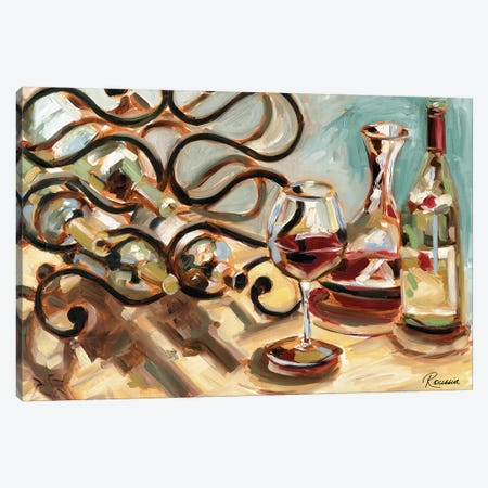 Decanter and Wine Canvas Print #FRR14} by Heather A. French-Roussia Canvas Print