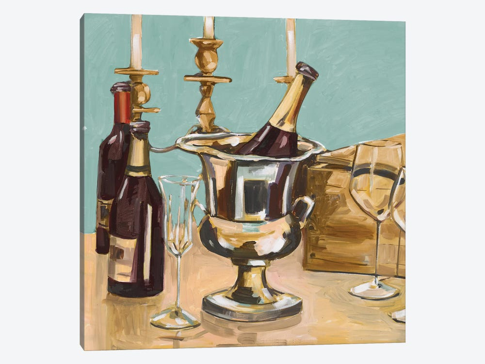 Dinner Party II by Heather A. French-Roussia 1-piece Canvas Art