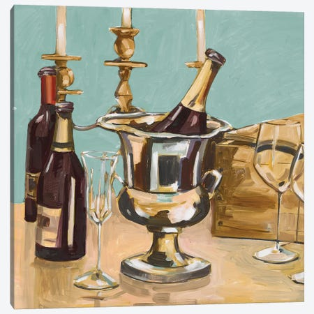 Dinner Party II Canvas Print #FRR17} by Heather A. French-Roussia Canvas Print