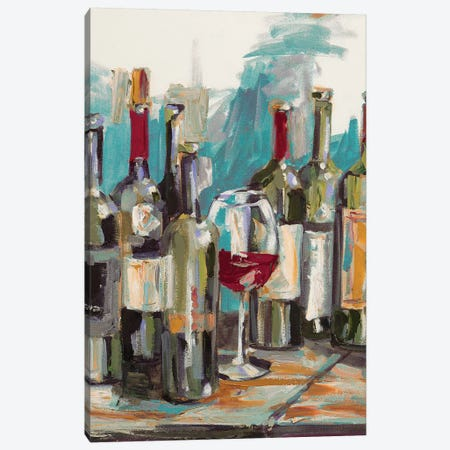 Uncorked I Canvas Print #FRR18} by Heather A. French-Roussia Canvas Art