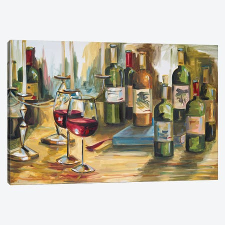 Wine Room Canvas Print #FRR20} by Heather A. French-Roussia Canvas Print