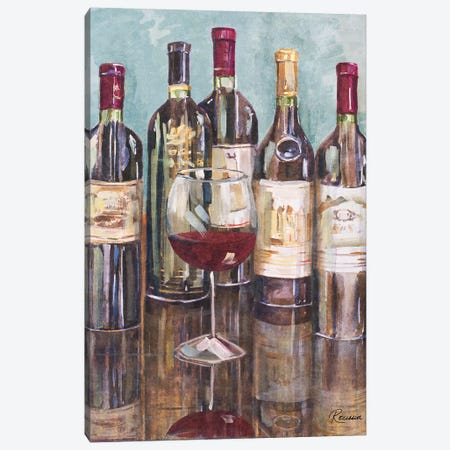 Wine Tasting I Canvas Print #FRR21} by Heather A. French-Roussia Art Print