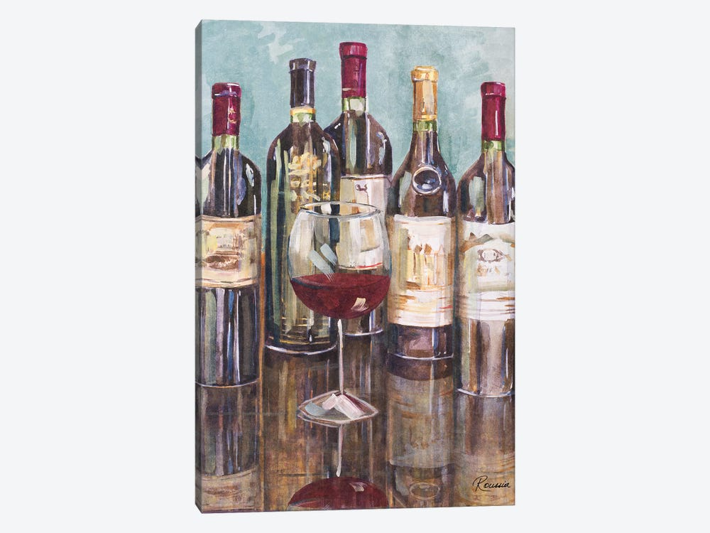 Wine Tasting I by Heather A. French-Roussia 1-piece Canvas Art Print