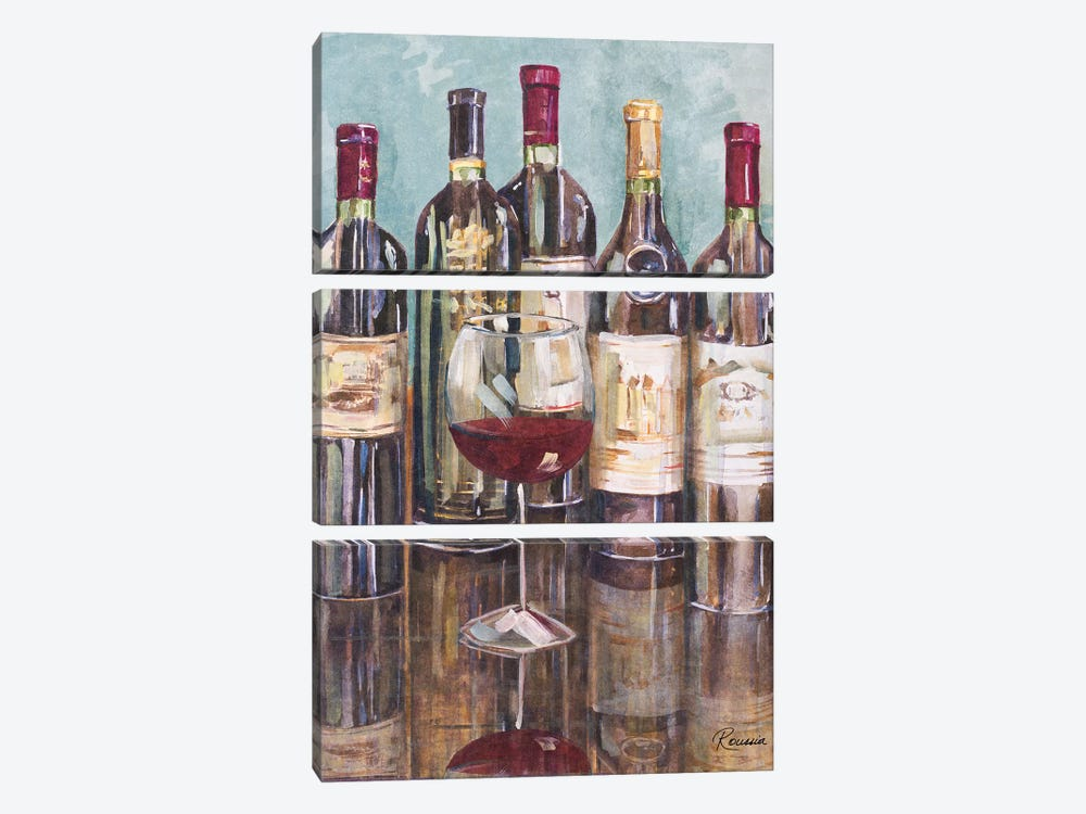 Wine Tasting I by Heather A. French-Roussia 3-piece Art Print