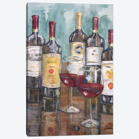 Wine Tasting II Canvas Print #FRR22} by Heather A. French-Roussia Canvas Print