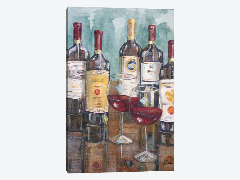 Wine Tasting II by Heather A. French-Roussia 1-piece Canvas Artwork