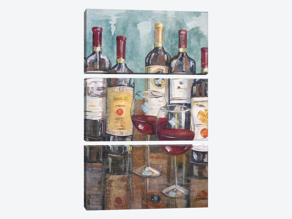 Wine Tasting II by Heather A. French-Roussia 3-piece Canvas Art