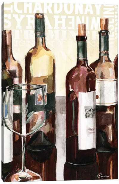 Wine Typography I Canvas Art Print