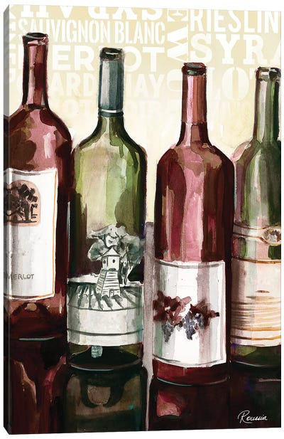 Wine Typography II Canvas Art Print