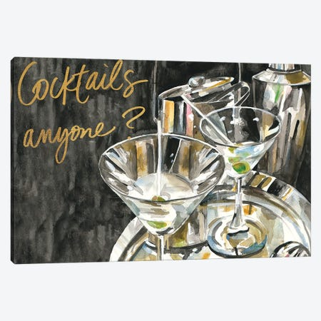 Cocktails Anyone? Canvas Print #FRR33} by Heather A. French-Roussia Canvas Art