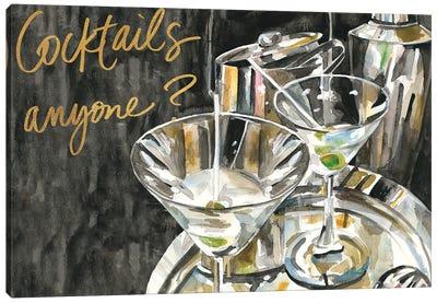 Cocktails Anyone? Canvas Art Print