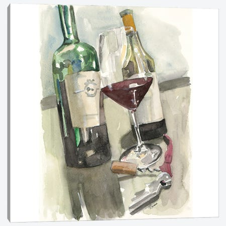 Glass of Red Canvas Print #FRR34} by Heather A. French-Roussia Canvas Print