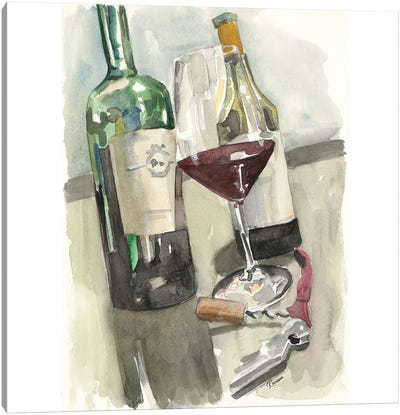 Glass of Red Canvas Art Print