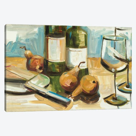 Pears Well with Wine 3-Piece Canvas #FRR37} by Heather A. French-Roussia Art Print