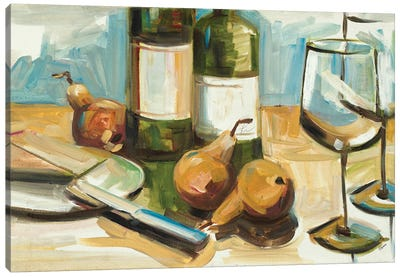 Pears Well with Wine Canvas Art Print