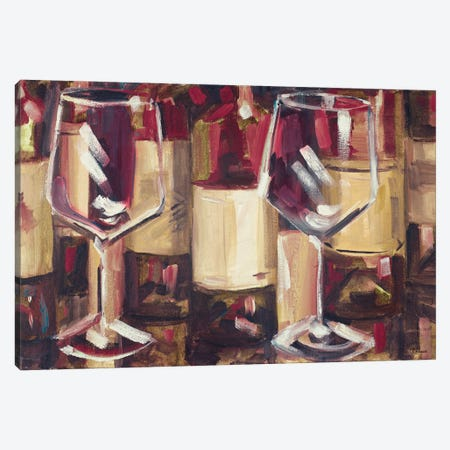 Red Wine with Dinner Canvas Print #FRR43} by Heather A. French-Roussia Canvas Print
