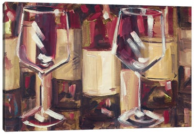 Red Wine with Dinner Canvas Art Print