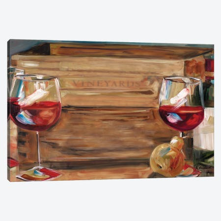 Vineyard Wine Canvas Print #FRR45} by Heather A. French-Roussia Canvas Artwork