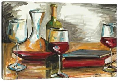 Wine and Books Canvas Art Print
