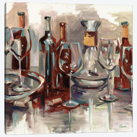 Wine Selections Canvas Print #FRR47} by Heather A. French-Roussia Canvas Art