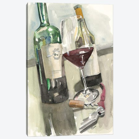 Wine Series II Canvas Print #FRR49} by Heather A. French-Roussia Art Print