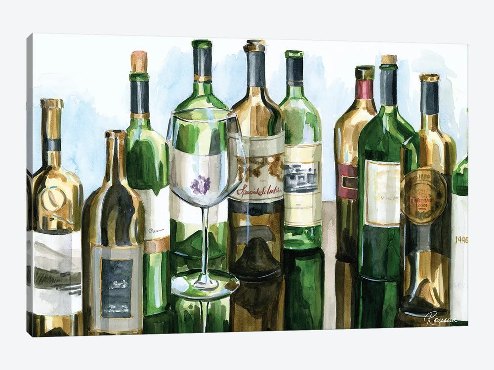 B&G Bottles I by Heather A. French-Roussia 1-piece Art Print