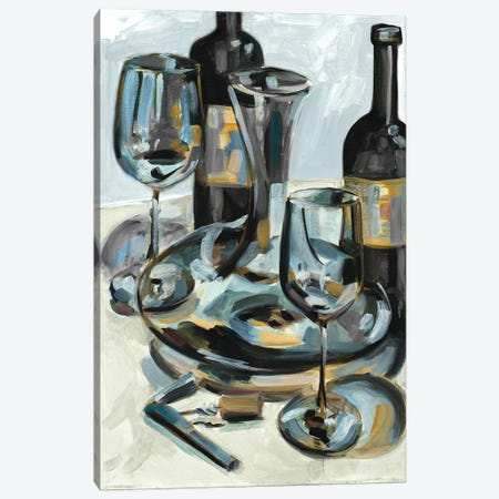 Wine with Dinner I Canvas Print #FRR51} by Heather A. French-Roussia Canvas Artwork
