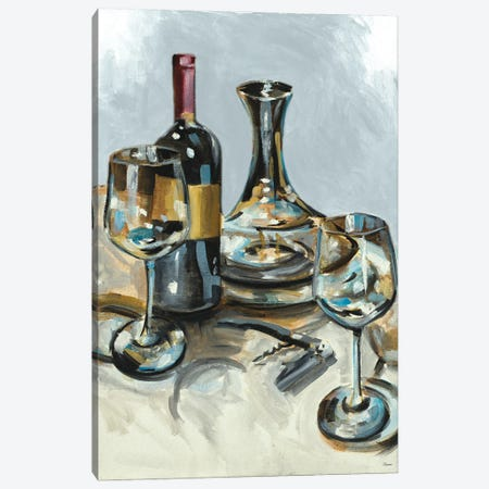 Wine with Dinner II Canvas Print #FRR52} by Heather A. French-Roussia Canvas Wall Art
