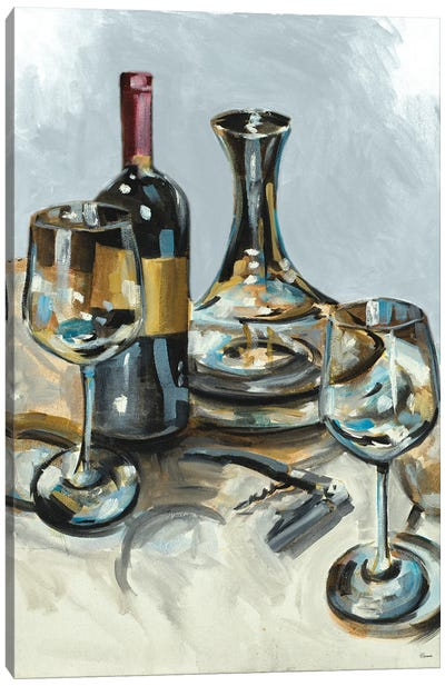 Wine with Dinner II Canvas Art Print
