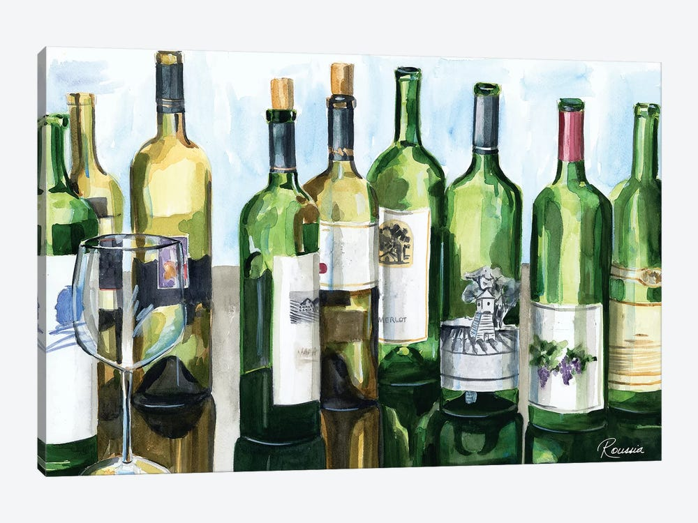B&G Bottles II by Heather A. French-Roussia 1-piece Canvas Artwork