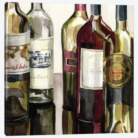 B&G Bottles Square I Canvas Print #FRR6} by Heather A. French-Roussia Canvas Art Print